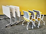 DM 7 Folding Tables and Chairs Vignette